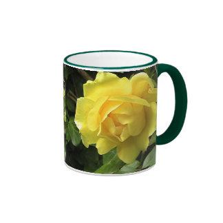 Yellow Rose Ringer Mug