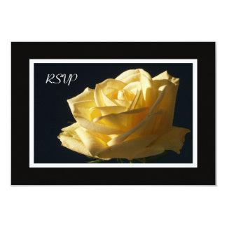 Yellow Rose RSVP Invitation