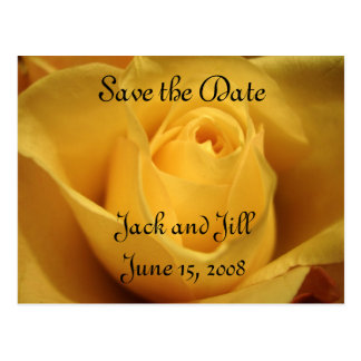 Yellow Rose, Save the Date, Postcard