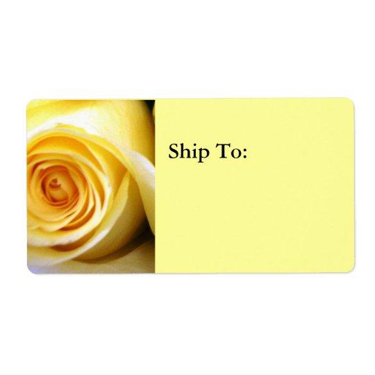 Yellow Rose Shipping Address Label