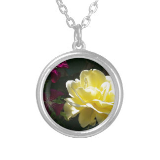 Yellow Rose Silver Plated Necklace