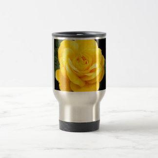 Yellow Rose Stainless Steel Travel Mug