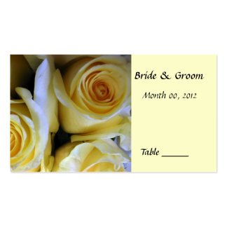 Yellow Rose Table Place Card Business Card Template