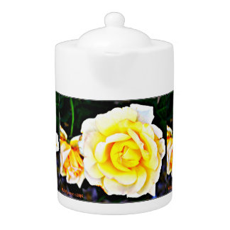 Yellow Rose Tea Pot