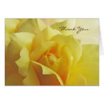 Yellow Rose Thank You Note Card