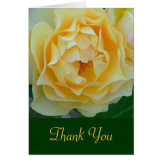 """Yellow Rose / THANK YOU"" NOTECARD Note Card"
