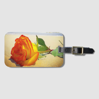 Yellow Rose Travel Luggage Tag