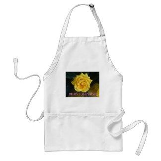 Yellow rose valentine standard apron