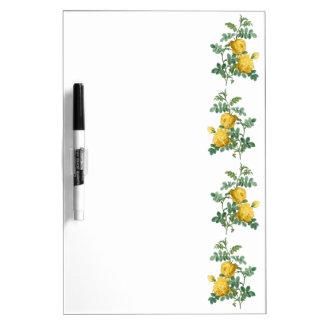 Yellow Rose vintage botanical illustration Dry Erase Board