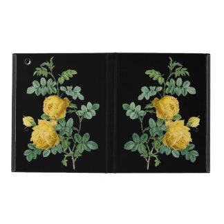 Yellow Rose vintage botanical illustration iPad Cover