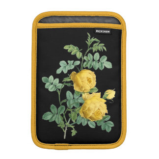 Yellow Rose vintage botanical illustration iPad Mini Sleeve