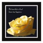 Yellow Rose Vow Renewal Invitation