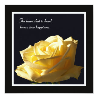 Yellow Rose Vow Renewal Invitation