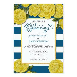 Yellow Rose Wedding Invite