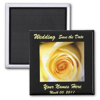 Yellow Rose Wedding Magnet