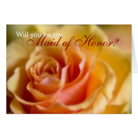 Yellow Rose • Will You Be My Maid of Honour Card