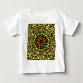 Yellow Rose Window Design For Stained Glass Baby T-Shirt
