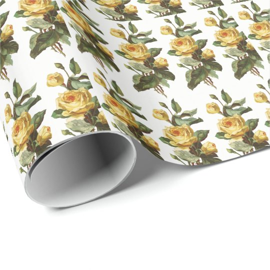 Yellow Rose Wrapping Paper
