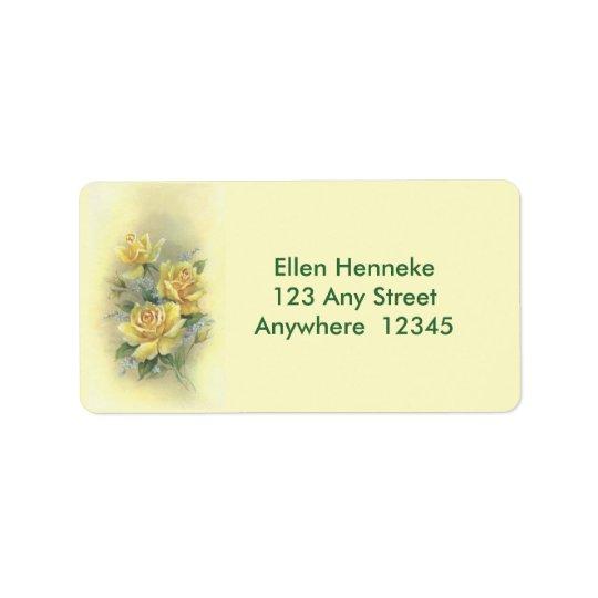 Yellow Roses Address Label