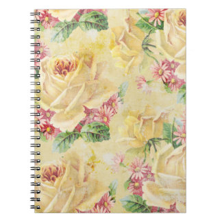 Yellow Roses and Pink Daisies Spiral Notebook