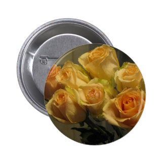Yellow Roses Pinback Buttons