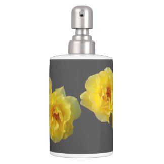 Yellow Roses Bath Accessory Sets