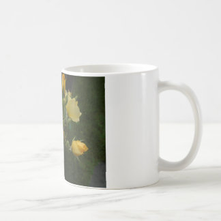 yellow roses boho floral rustic gift gor her mug