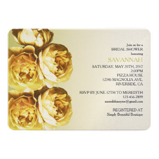 Yellow Roses bridal shower 13 Cm X 18 Cm Invitation Card