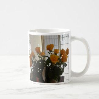 Yellow Roses coffee cup Basic White Mug