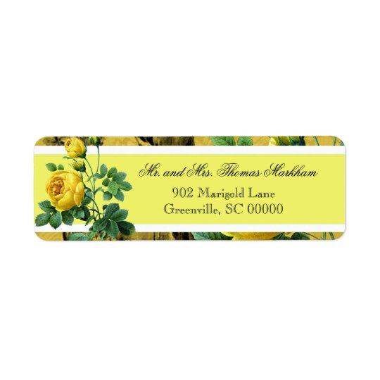 Yellow Roses Custom Address Labels