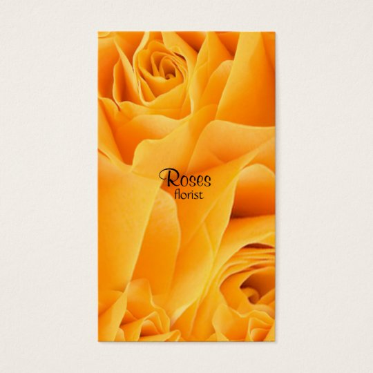 Yellow roses florist Business Cards