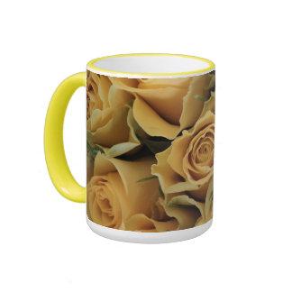 Yellow Roses, Flower Bouquet Mug