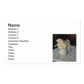 Yellow Roses in a Vase Double-Sided Standard Business Cards (Pack Of 100)