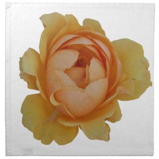 yellow roses in the garden napkin