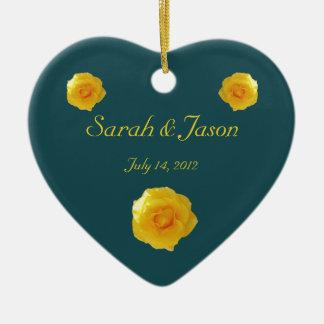Yellow Roses keepsake ornament