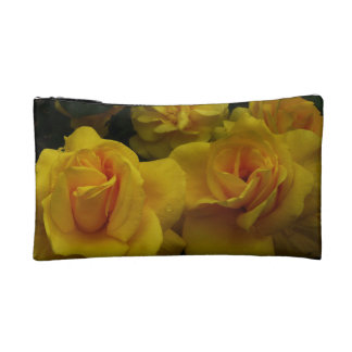 Yellow Roses Makeup Bag
