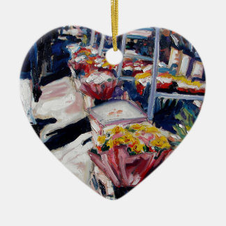 yellow roses moore street dublin ceramic heart decoration