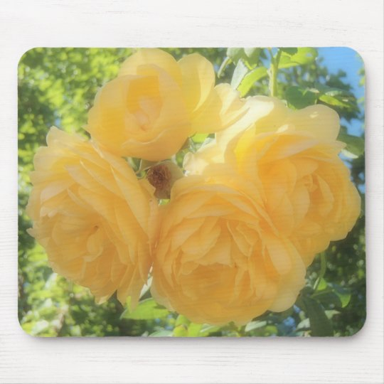 Yellow Roses Mouse Mat