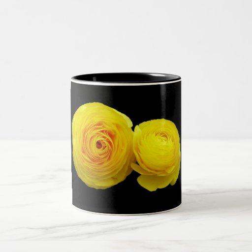 yellow roses coffee mugs