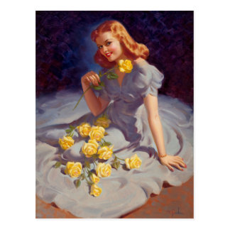 Yellow Roses Postcard