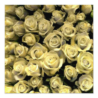 Yellow Roses RSVP Card 13 Cm X 13 Cm Square Invitation Card