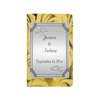 Yellow Roses, Silver Frame & Diamond Wedding Rings Journals