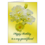 Yellow Roses Special Friend Birthday Card