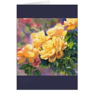 Yellow roses sympathy card
