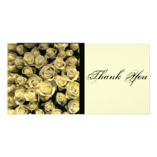 Yellow Roses Thank You Personalized Photo Card