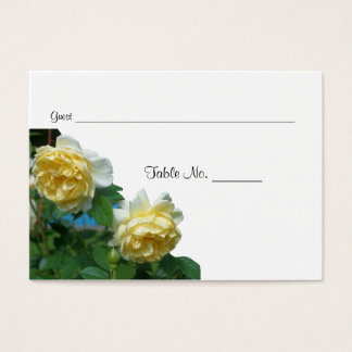 Yellow Roses Wedding Table Place Cards