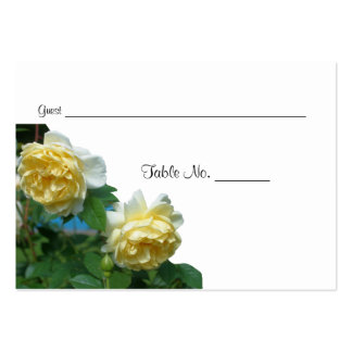 Yellow Roses Wedding Table Place Cards Pack Of Chubby Business Cards