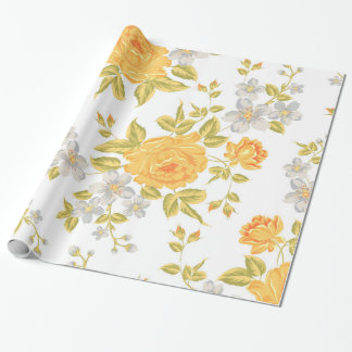 Yellow Roses Wrapping Paper