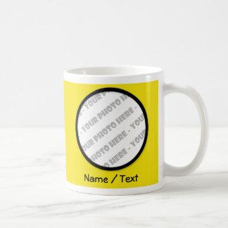 Yellow Round Photo & Text Mug - Create Your Own