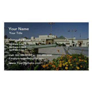 yellow Royal palace, Rabat, capital of Morocco flo Business Card Template